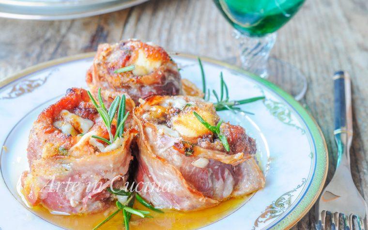 Involtini di carne e pancetta gratinati al forno