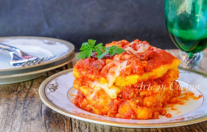 Lasagna di polenta con ragu al forno ricetta facile