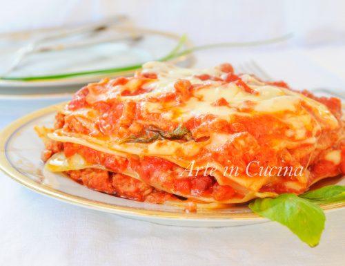 Lasagne al sugo con ragù ricetta veloce