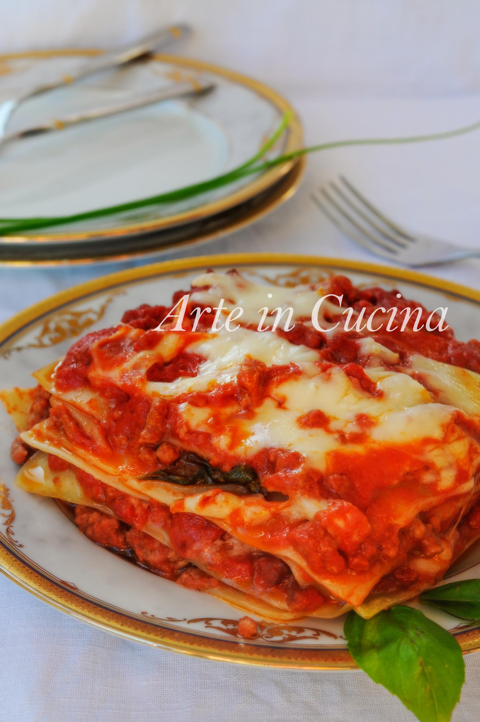 Lasagne al sugo con ragù ricetta veloce vickyart arte in cucina