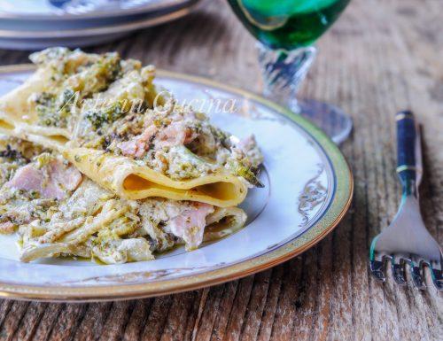 Paccheri broccoli e prosciutto cremosi ricetta facile