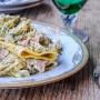 Paccheri broccoli e prosciutto cremosi ricetta facile vickyart arte in cucina
