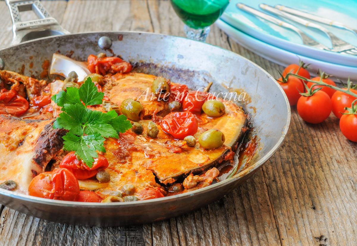 Pesce spada alla siciliana in padella ricetta veloce