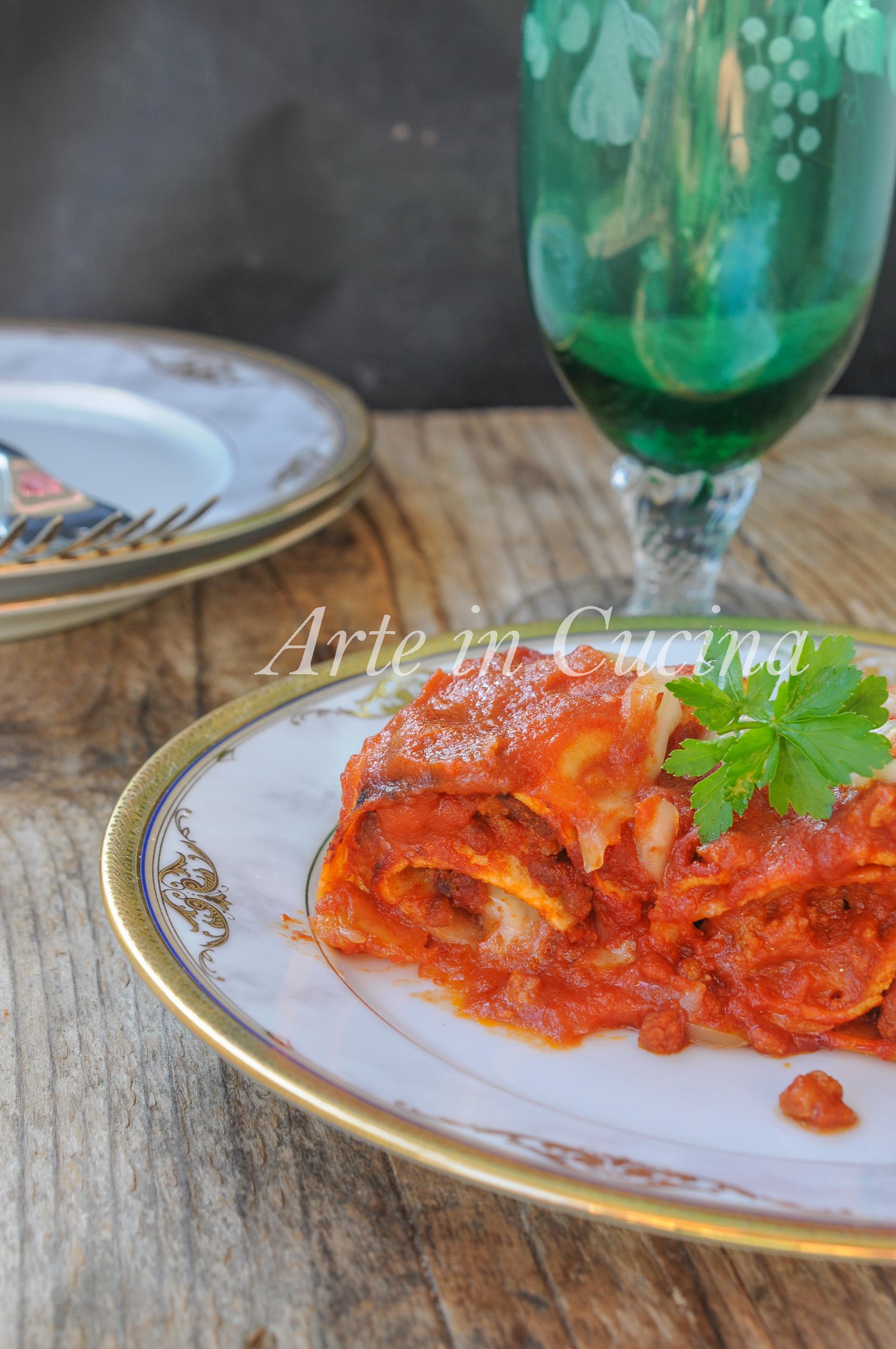 Rotolini di lasagne con macinato e prosciutto vickyart arte in cucina