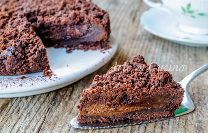 Sbriciolata nutella e crema al cioccolato morbidissima