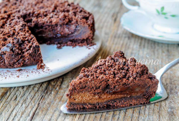 Sbriciolata nutella e crema al cioccolato morbidissima vickyart arte in cucina