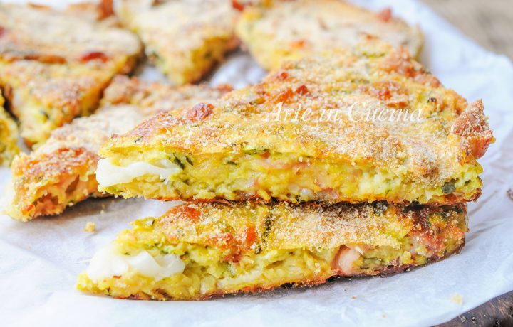 Schiacciata di zucchine e provola ricetta veloce