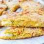 Schiacciata di zucchine e provola ricetta veloce vickyart arte in cucina