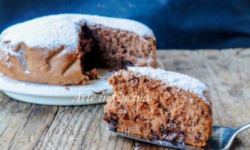 Torta al cucchiaio nutella e cioccolato veloce