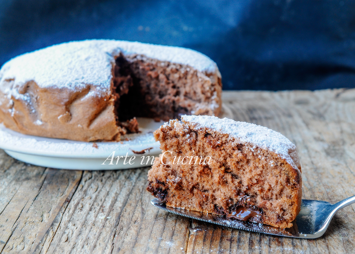 Torta al cucchiaio nutella e cioccolato veloce vickyart arte in cucina