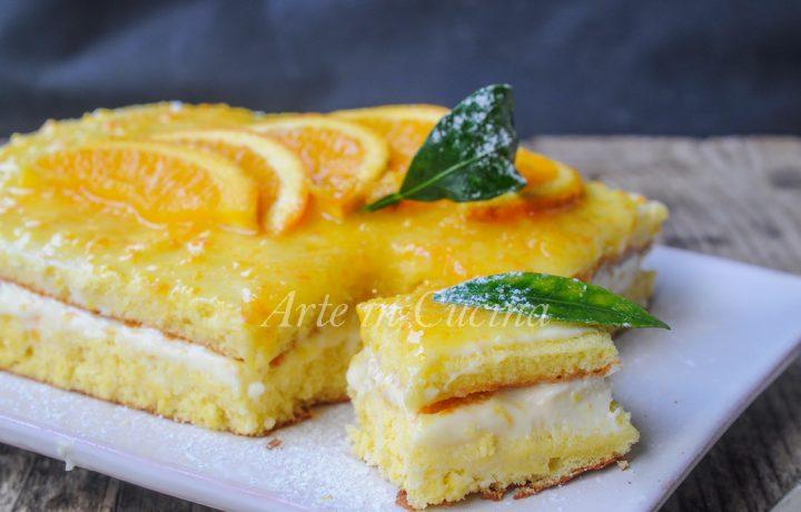 Torta veloce all'arancia con ricotta e mascarpone