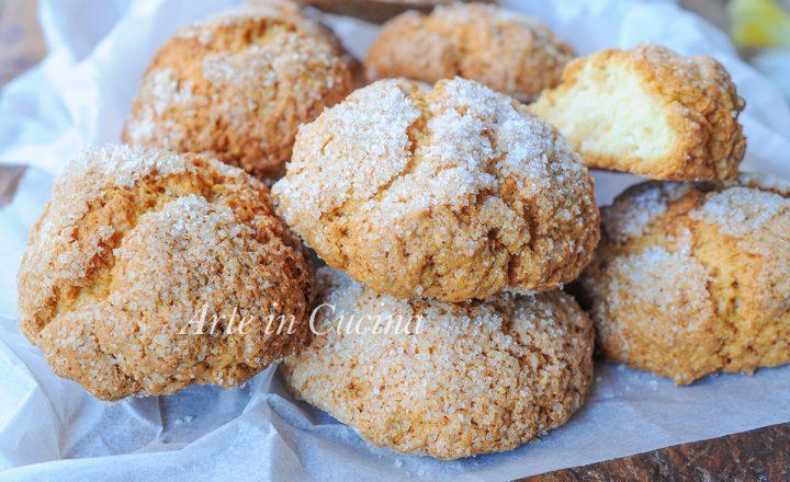 Biscotti alla panna zuccherati ricetta veloce