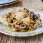 Bocconcini di tacchino ai funghi cremosi ricetta veloce vickyart arte in cucina
