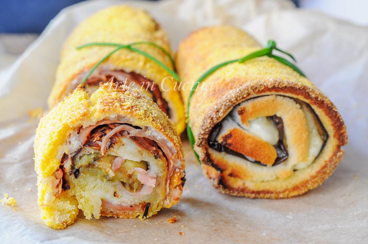Cannoli di pancarrè con melanzane arrostite veloci vickyart arte in cucina