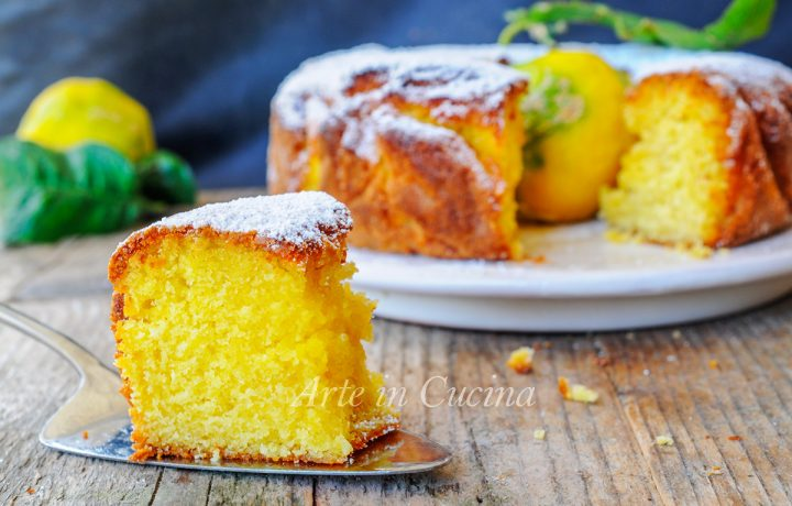 Ciambella pan di limone soffice e veloce anche bimby