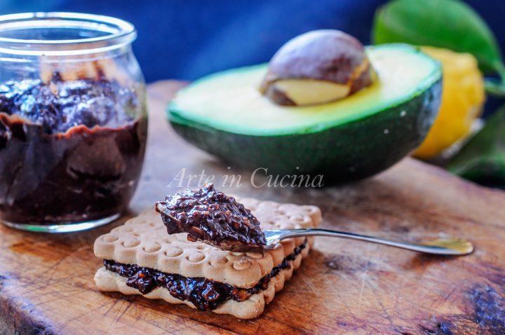 Crema spalmabile avocado e cioccolato leggera senza cottura vickyart arte in cucina