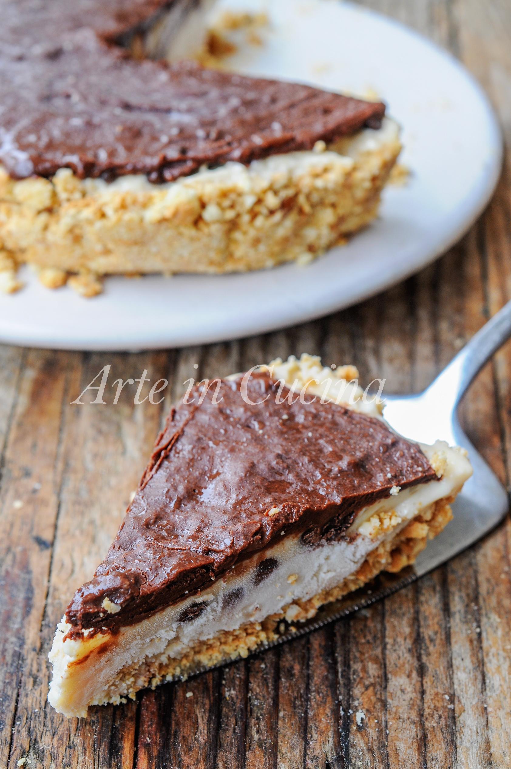 Crostata di biscotti con crema al latte e caffè vickyart arte in cucina