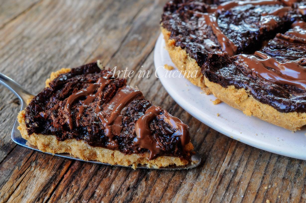 Crostata di biscotti nutella e cioccolato ricetta veloce vickyart arte in cucina