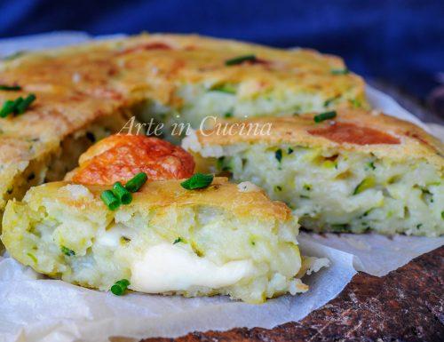 Focaccia morbida e veloce con zucchine senza lievitazione