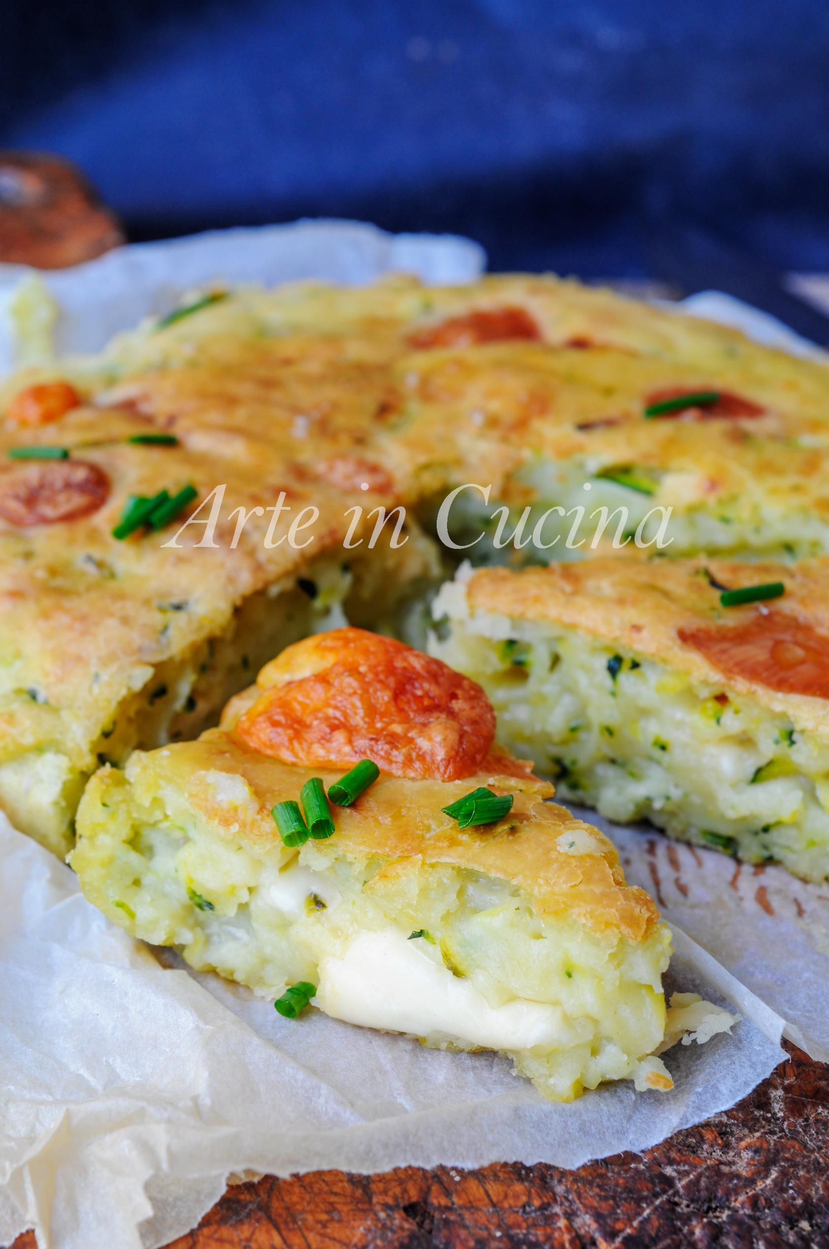 Focaccia morbida e veloce con zucchine senza lievitazione vickyart arte in cucina