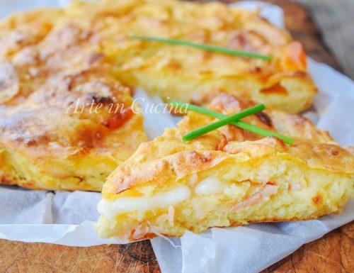 Focaccia di patate salmone e provola ricetta facile