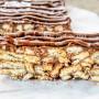 Mattonella di biscotti salame alla nutella e cioccolato vickyart arte in cucina