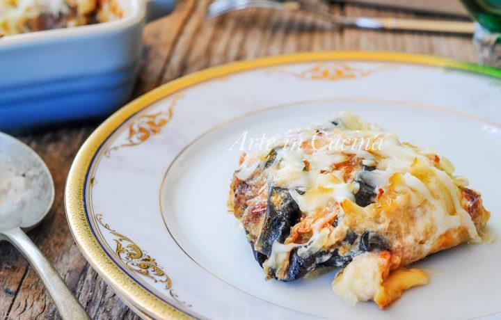 Parmigiana di patate e melanzane con besciamella