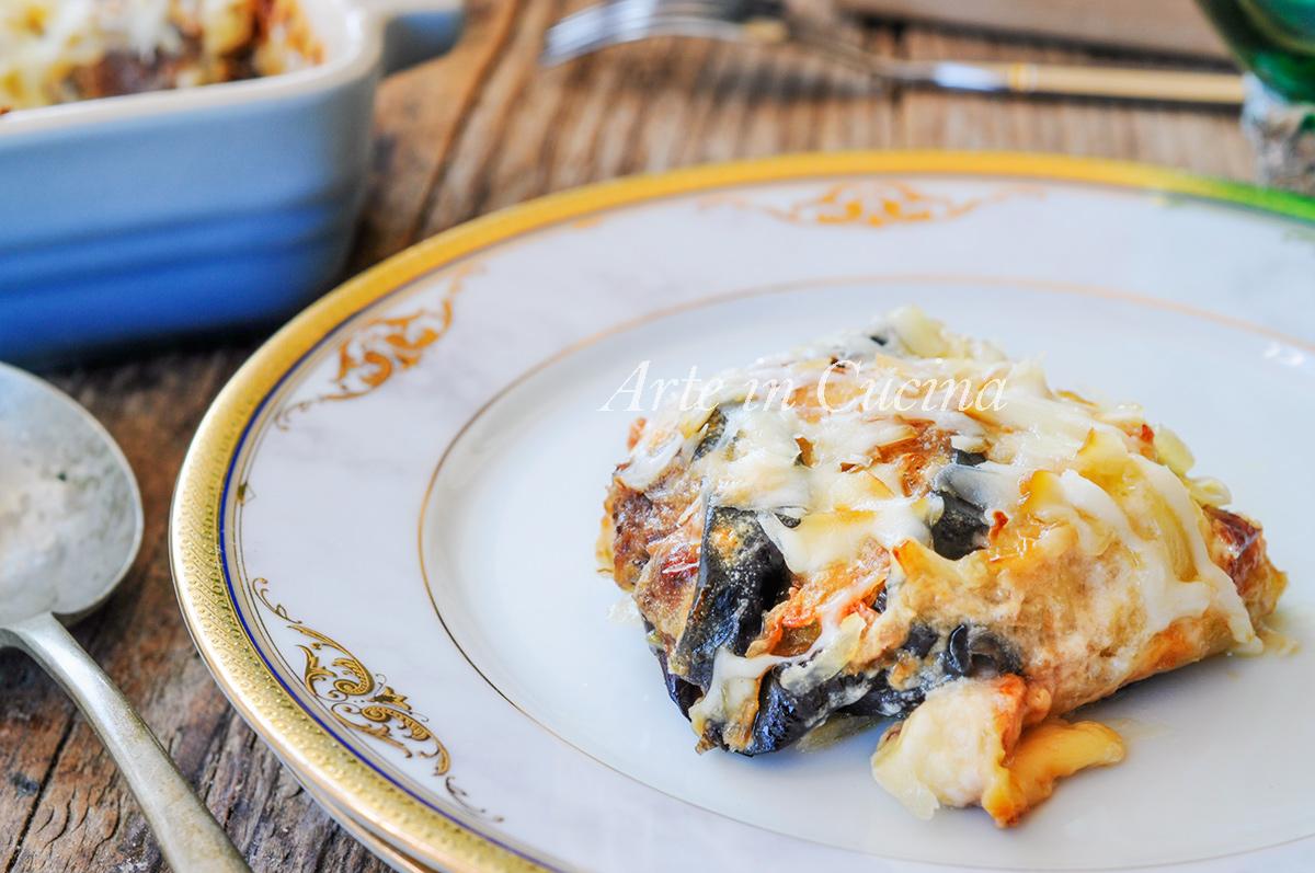 Parmigiana di patate e melanzane con besciamella vickyart arte in cucina