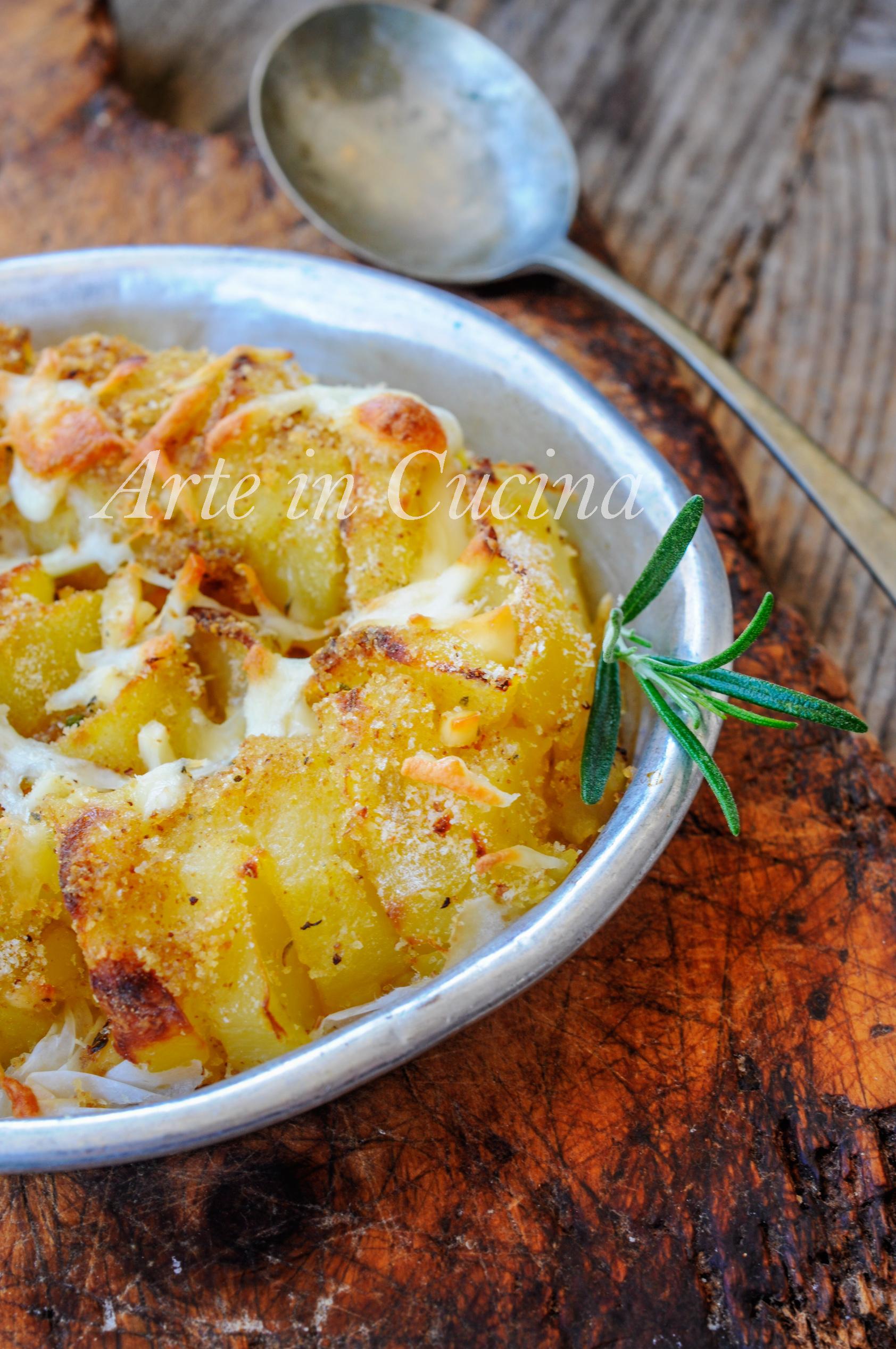 Patate e provola gratinate al forno ricetta facile vickyart arte in cucina