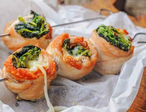 Spiedini di tacchino con spinaci ricetta veloce