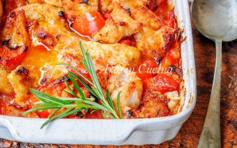 Tagliata di pollo e peperoni gratinati al forno