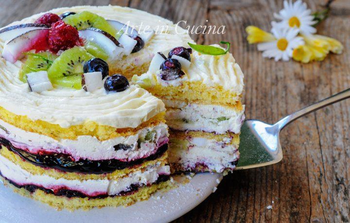 Torta alla frutta panna e mascarpone ricetta veloce