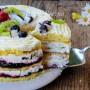 Torta alla frutta panna e mascarpone ricetta veloce vickyart arte in cucina