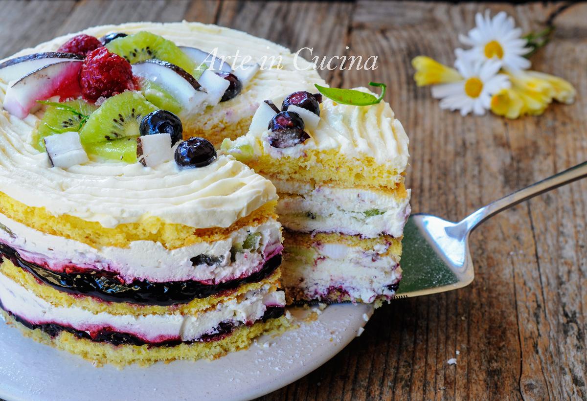 Torta alla frutta panna e mascarpone ricetta veloce - Differenza panna da cucina e panna fresca ...