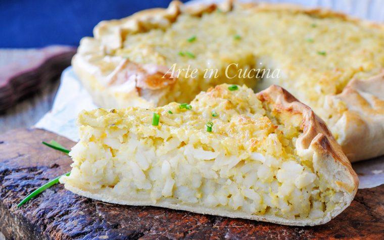 Torta di riso alla genovese spezzina con pesto