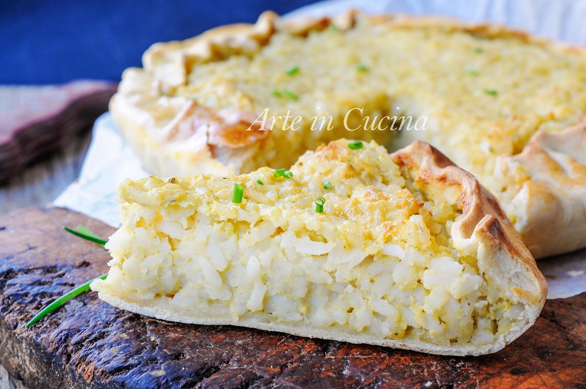 Torta di riso alla genovese spezzina con pesto vickyart arte in cucina