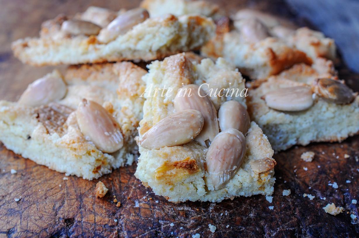 Trancini di mandorle e cioccolato bianco ricetta veloce vickyart arte in cucina