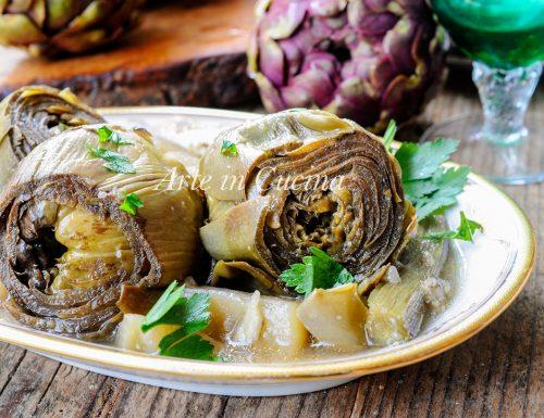 Mammarelle con patate carciofi in umido ricetta facile