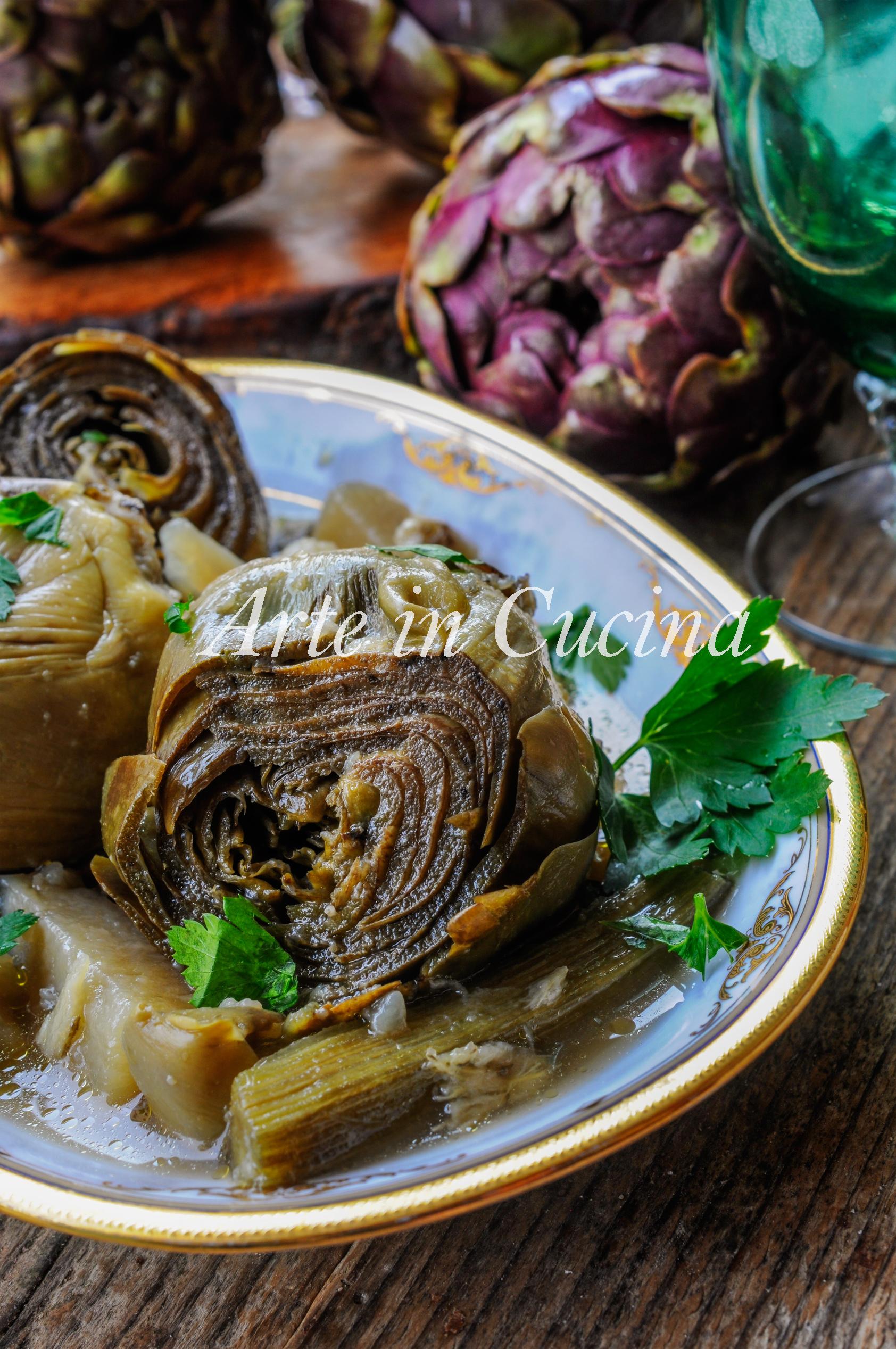 Mammarelle con patate carciofi in umido ricetta facile vickyart arte in cucina
