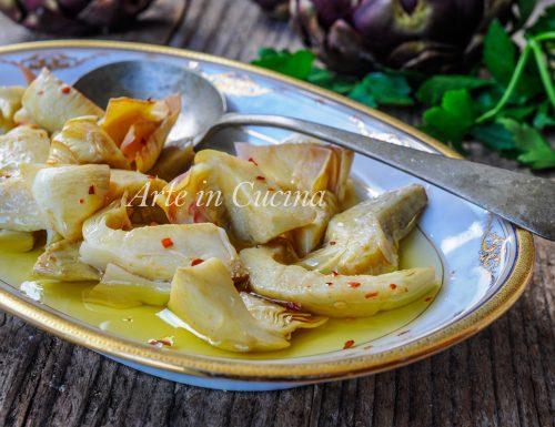 Carciofini sott'olio ricetta antipasto facile