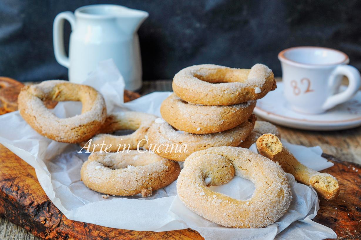 Ciambelline veloci al caffè ricetta biscotti facili vickyart arte in cucina