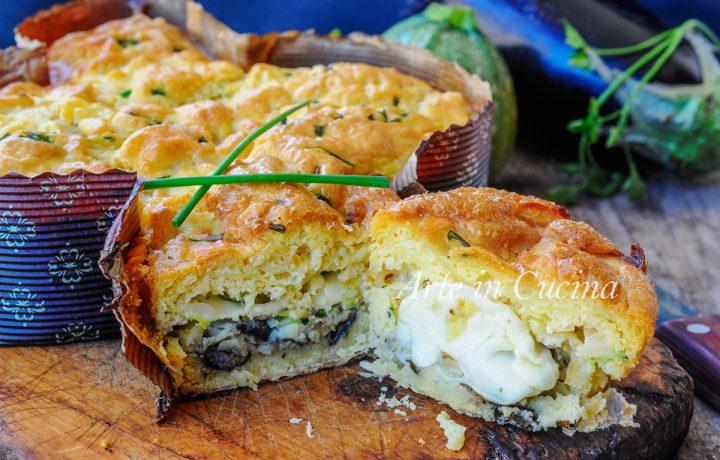 Colomba salata con verdure in crosta di patate veloce