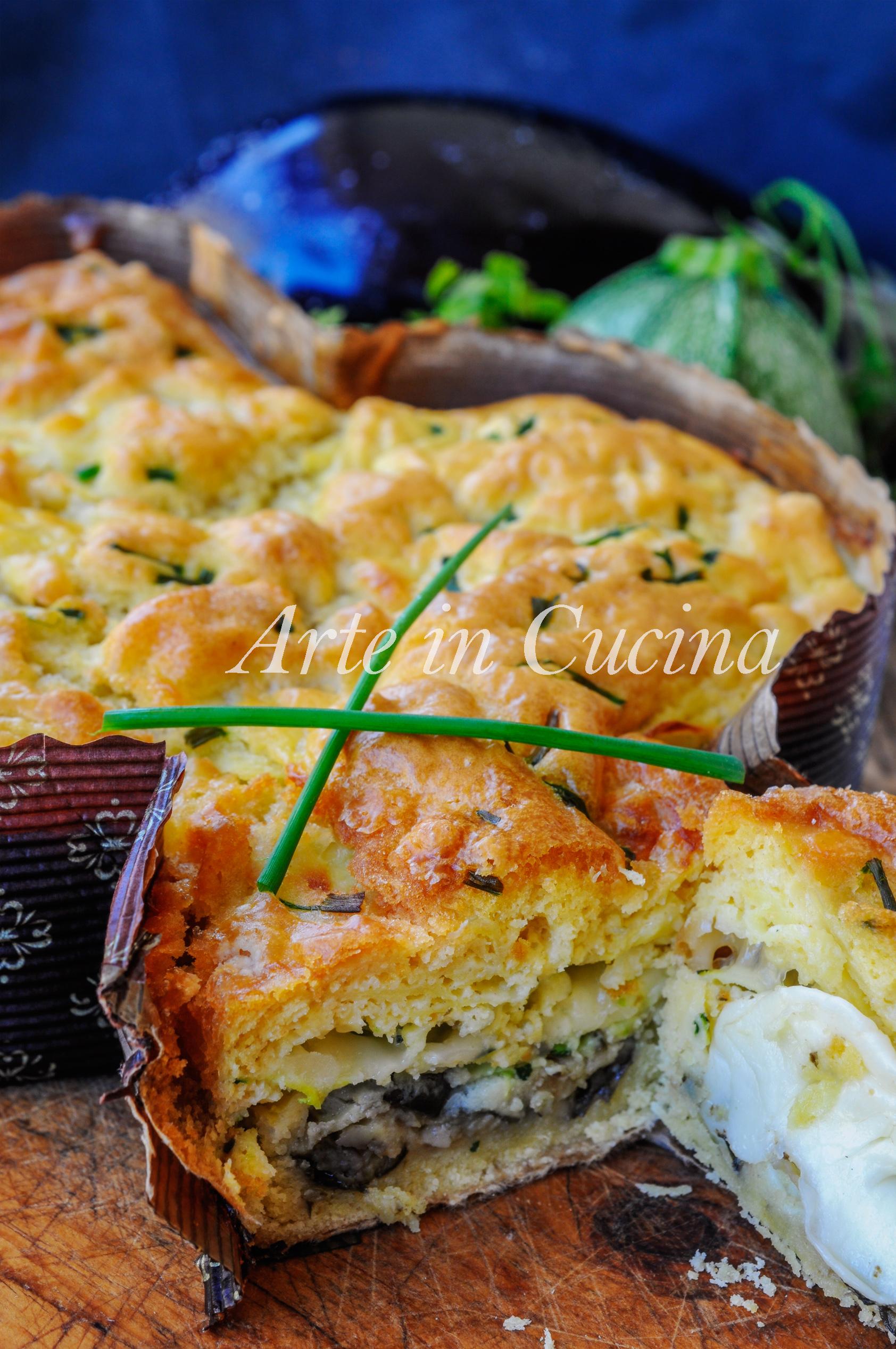 Colomba salata con verdure in crosta di patate vickyart arte in cucina