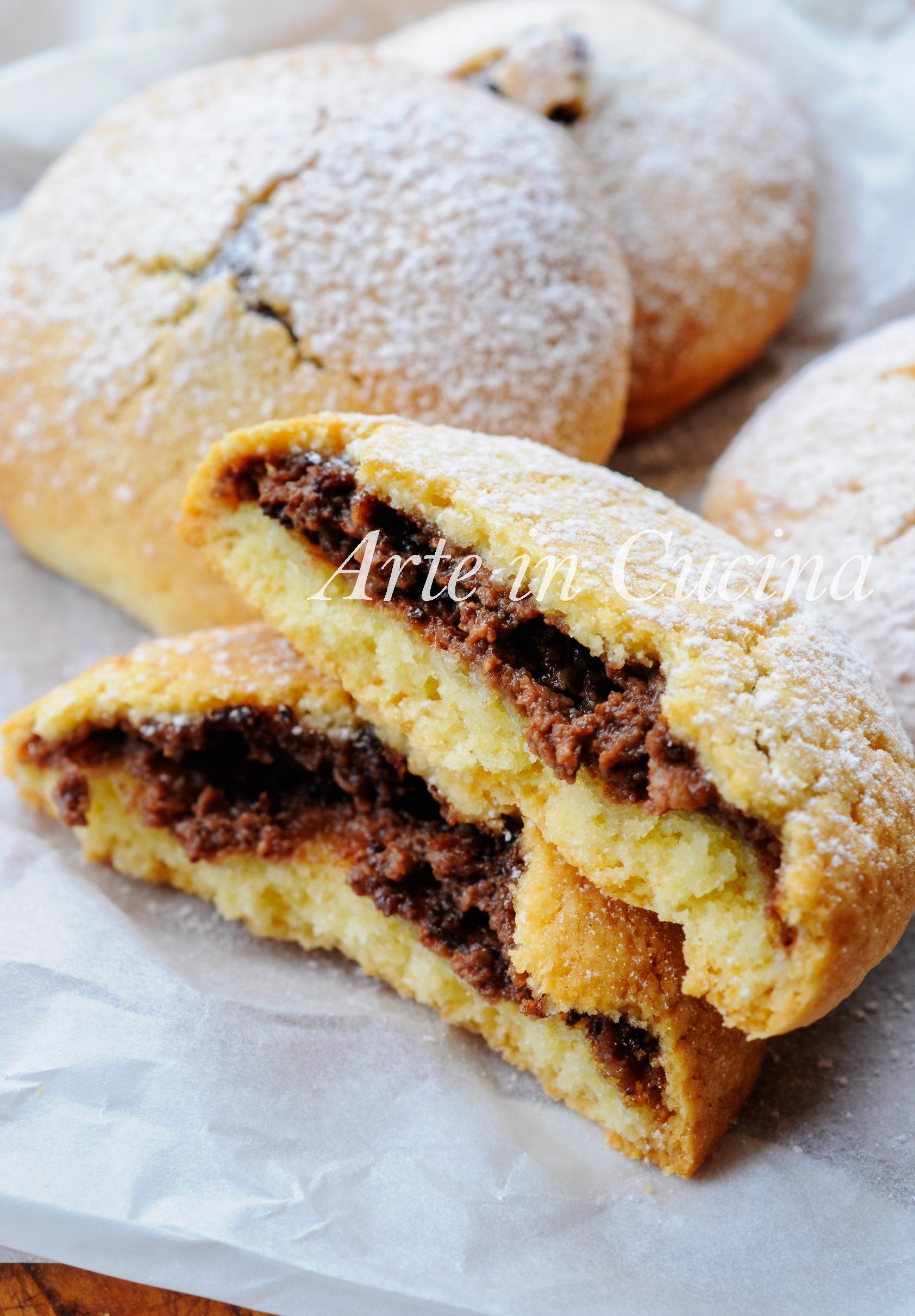 Frolle ricotta e nutella ricetta dolce veloce vickyart arte in cucina