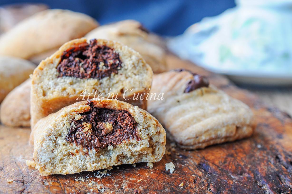 Frollini al caffè ripieni di cioccolato veloci vickyart arte in cucina