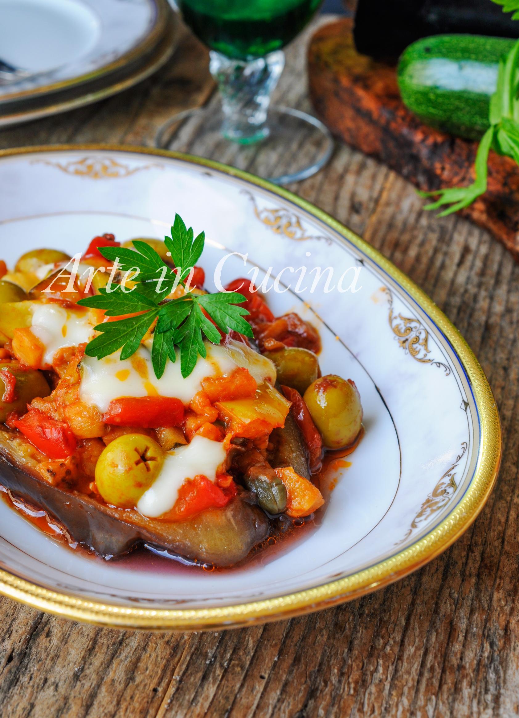 Melanzane ripiene di verdure e provola ricetta facile vickyart arte in cucina
