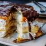 Millefoglie con crema al latte e caffè e cioccolato vickyart arte in cucina