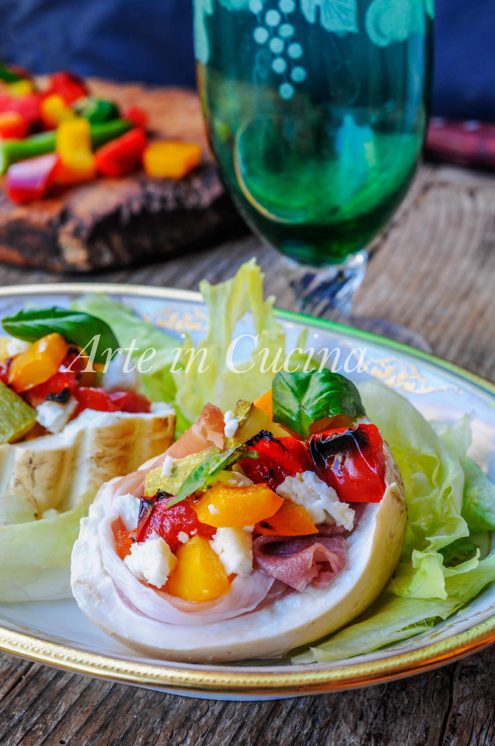 Mozzarelle affumicate ripiene con dadolata di verdure vickyart arte in cucina