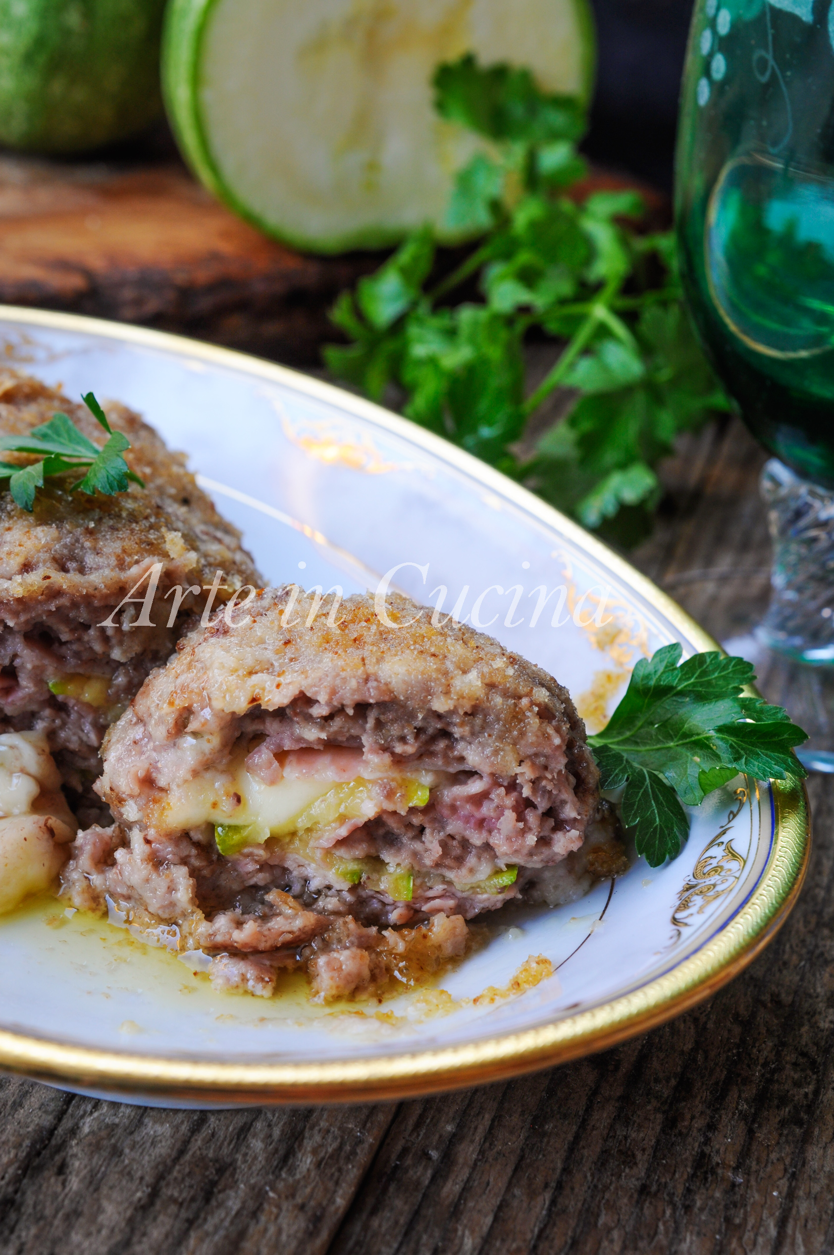 Polpettone con zucchine e prosciutto morbido vickyart arte in cucina