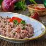 Risotto alle fragole e gamberetti ricetta veloce vickyart arte in cucina